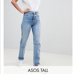ASOS Tall Recycled Denim Straight Leg W30 L38